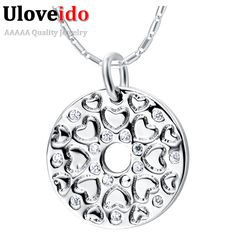 Find More Pendants Information about 2016 Charms Silver Crystal Suspension Women Necklace Heart Pendant Jade CZ Diamond Jewelry Pendants Pingentes Rhinestone N875,High Quality necklace words,China necklace bronze Suppliers, Cheap necklace horn from D&C Fashion Jewelry Buy to Get a Free Gift on Aliexpress.com