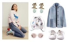 """untitled #33"" by nicola-x ❤ liked on Polyvore featuring Monki, Burberry, Converse and Miu Miu"