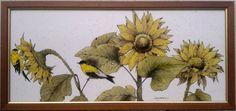 Summer Gold - £625.00 : Lanas Art, Reverse Glass Paintings