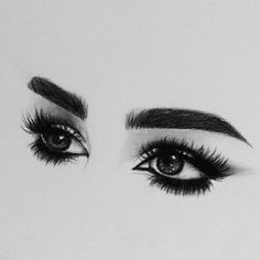 Lashes teegan Girl Drawing Sketches, Portrait Sketches, Pencil Art Drawings, Sketch Painting, Drawing Ideas, Easy Eye Drawing, Ipad Kunst, Eye Sketch, Eye Art
