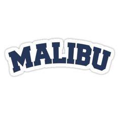 'Malibu' Sticker by ravcnclaw Homemade Stickers, Diy Stickers, Printable Stickers, Laptop Stickers, Brand Stickers, Brandy Melville Stickers, Preppy Stickers, Bubble Stickers, Aesthetic Stickers