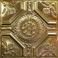 Also offering, matching tin crown molding and installation accessories. Gold Metal, Metal Ceiling, Metal Tins, Tin Crown Molding, Gold Ceiling, Tiles, Tin Ceiling Tiles, Metal, Touch Of Gold