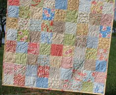 Shabby Chic Baby Quilt by SunnysideDesigns2 on Etsy, $149.00
