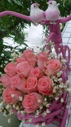 Good Morning Beautiful Flowers, Beautiful Rose Flowers, Pretty Flowers, Pink Flowers, Rose Flower Wallpaper, Flower Background Wallpaper, Flower Images, Flower Pictures, Rose Flower Arrangements