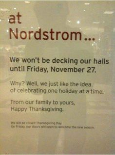 One holiday at a time! Thank you Nordstroms. Love this.