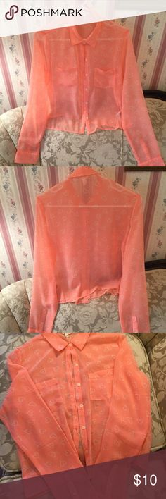 Blouse New without tags sheer blouse Aeropostale Tops Blouses