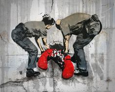 Banksy pulling out the clown Street Art Banksy, Banksy Art, 3d Street Art, Amazing Street Art, Street Artists, Graffiti Art, Amazing Art, Pop Art, Arte Popular