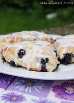 Les délices de Maya: Scones aux bleuets Biscuits, Brunch, Biscuit Cookies, Cookie Desserts, Creative Cakes, Maya, Sushi, Muffins, Chicken