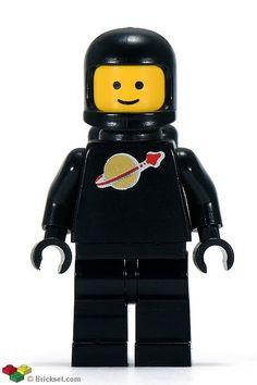 sp003 - Classic Lego spaceman - Black