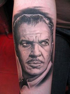 Vincent Price. I need a tattoo by Bob Tyrrell! Thats my goal...amazing
