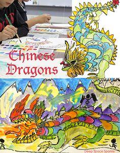 Chinese dragon watercolor art project