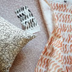 Lace & Ripple in Smoke | Reversible Pillow | Rebecca Atwood