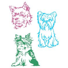 Yorkshire Terrier Dog Yorkie Cuttable Designs