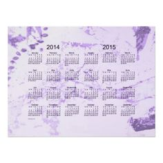 Old Purple Paint 2 Year 2014-2015 Wall Calendar Print Design from Calendars by Janz