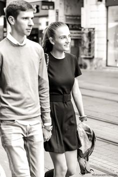 Preppy chic street style fashion in Zagreba #couple #streetstyle #chic by peopleandstyles.com
