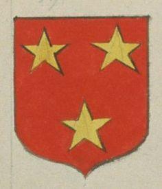 Urbain FOYER, Chanoine de Notre Dame de Nantilly de Saumur. Porte : de gueules, à trois étoiles d'or | N° 396 > Saumur