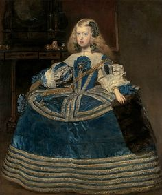 'Infanta Margarita Teresa in a Blue Dress' (one of the best known portraits by Spanish painter Diego Velázquez; oil on canvas, It is at the Kunsthistorisches Museum, Vienna, Austria Infanta Margarita, Kunsthistorisches Museum Wien, Diego Velazquez, Top Paintings, Paintings Famous, Amazing Paintings, Marine Uniform, Culture Art, Baroque Painting