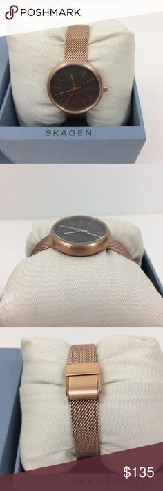 🆕Listing☘️NWOT Skagen  Rose Gold-tone  Watch NWOT. Brand new and never worn this Skagen Signatur Rose Gold-tone Steel-Mesh watch is not too overpowering on your wrist. See pictures for for more info. Bundle it with the Skagen Anette rose gold-tone bangle that I also have listed to get a private offer! Have a question leave it in the comments. Accessories Watches