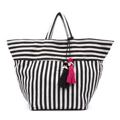 Valerie Beach Tote Black