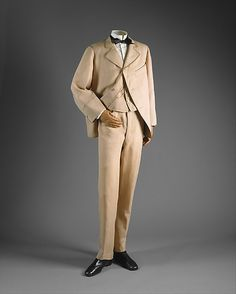 Suit 1870, Briths, Made of silk and wool