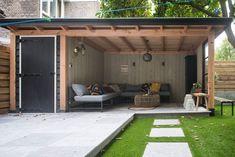 Backyard Storage Sheds, Backyard Sheds, Backyard Patio Designs, Pergola Patio, Backyard Landscaping, Gazebo, Patio Ideas, Outdoor Rooms, Outdoor Living