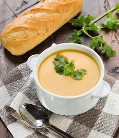Slow Cooker Thai Curried Butternut Squash Soup