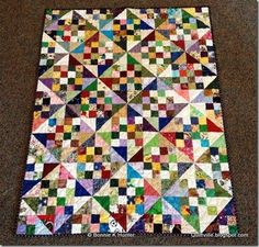 Kerstin's Patches & Pinwheels! Free pattern found here: http://quiltville.blogspot.com/p/free-patterns.html