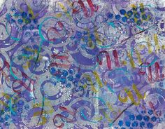 Cath Sheard - my art, my family, my life – but mainly my art! Lots more pretty Gelli pints on her site.
