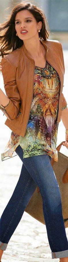 Madeleine Cognac Leather Jacket
