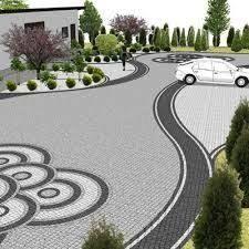 Image result for kostka brukowa nowoczesne aranżacje Stamped Concrete Driveway, Concrete Driveways, Brick Pavers, Driveway Pavers, Lanai Patio, Outside Flooring, Paver Patterns, Outdoor Spaces, Outdoor Decor