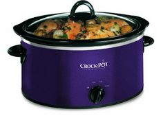 The Crock-Pot Slow Cooker, handsome in a black and aubergine finish, delivers succulent home-cooked meals with ease. Its capacity makes it perfect for families. Best Slow Cooker, Crock Pot Slow Cooker, Slow Cooker Recipes, Crockpot Recipes, Crock Pots, Purple Kitchen, Kosher Recipes, Cooking Appliances, Kitchen Appliances