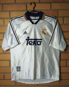 a6f33e881 Real Madrid Home football shirt 1998 - 2000 adidas jersey soccer size large  rare (eBay