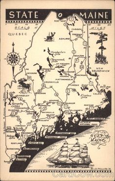 map of maine-HERMIT ISLAND, Bath Maine-great place for camping right on ocean front-sweet memories!