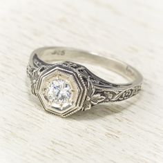 Antique Baroque Engagement Ring