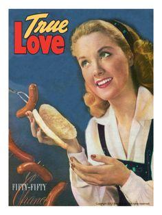 True Love Romance Vintage Magazine - September 1947 - Kodachrome artdotcom