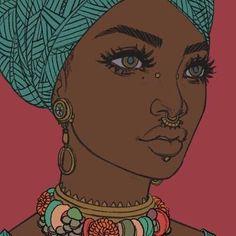 Bildresultat för african woman pop art step by step Black Girl Art, Black Women Art, Black Art, Art Girl, Black Girls, Arte Pop, African American Art, African Art, African Beauty