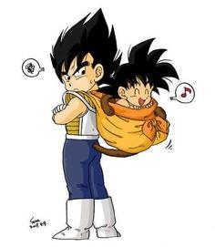 Kid Vegeta and BabyGoku #fanfiction #dbz #anime