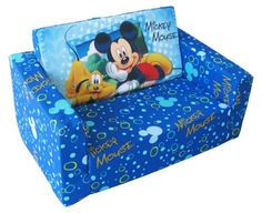 Disney Designs 70 x 45 x 35 cm Flip Out Sofa Mickey Mouse with Material Finish, Blue