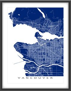 Vancouver map art print vancouver art bc british columbia vancouver map print canada colors gumiabroncs Choice Image