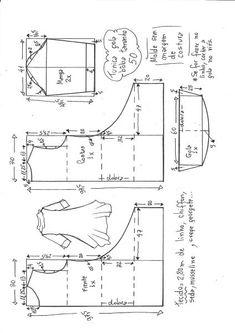 Túnica gola boba manga 3/4   DIY - molde, corte e costura - Marlene Mukai
