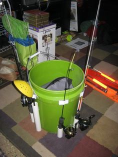 Pictures Ice Fishing Bucket Organization Project