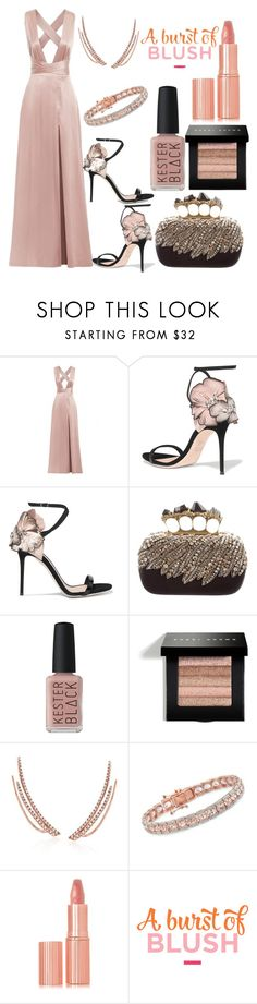 """burst of blush"" by esha2232 ❤ liked on Polyvore featuring Giuseppe Zanotti, Alexander McQueen, Kester Black, Bobbi Brown Cosmetics, Ross-Simons and Charlotte Tilbury"
