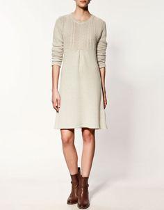 knit dress + boots