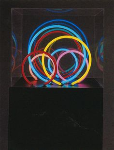 Neon Rings | From a unique collection of abstract-sculptures at https://www.1stdibs.com/art/sculptures/abstract-sculptures/