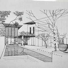 Interesting Find A Career In Architecture Ideas. Admirable Find A Career In Architecture Ideas. Architecture Concept Drawings, Architecture Sketchbook, Architecture Panel, Landscape Architecture, Landscape Design, Architecture Design, Perspective Sketch, Interior Design Sketches, Illustration