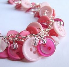 pink buttons jewelry
