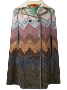 Shop Missoni chevron cape coat  in Papini from the world's best independent boutiques at farfetch.com. Shop 300 boutiques at one address.