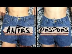 COMO ESTRECHAR TUS PANTALONES SIN MÁQUINA DE COSER - YouTube Sewing Tutorials, Jean Shorts, Crop Tops, How To Wear, Outfits, Youtube, Beautiful, Women, Dyi