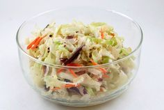 CAROLINA COLE SLAW ~ I had never, ever, in my years tried this type of slaw. I've whipped up mayo slaws for our cookouts, lunches, etc and gave myself props for how delicious they turn out. Some with pineapple chunks, another recipe I used called for pecans. ALL very delicious. But then I was introduced to a vinegar/oil slaw at a friends home. His mother has been making it for years. She tells me it's an easier slaw to handle at outdoor parties because there is no mayo to keep cold. TRY IT!