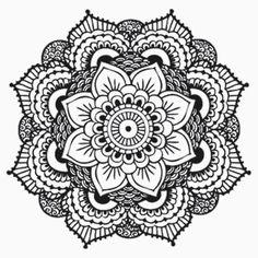 Detailed Mandala Flower